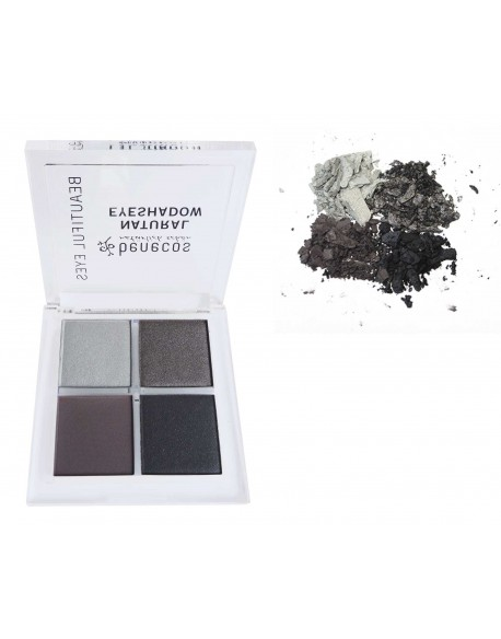 Palette 4 fards naturels tons smokey eyes