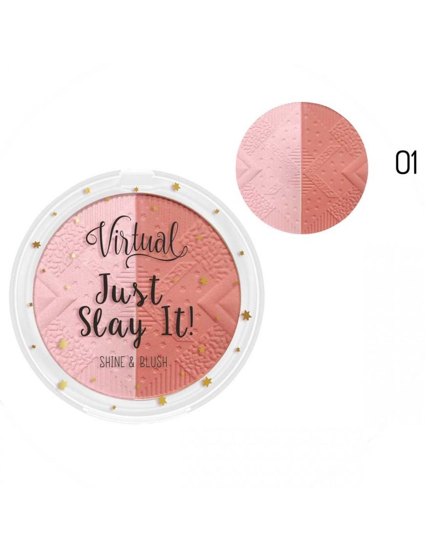 Blush 2 en 1 pink glow