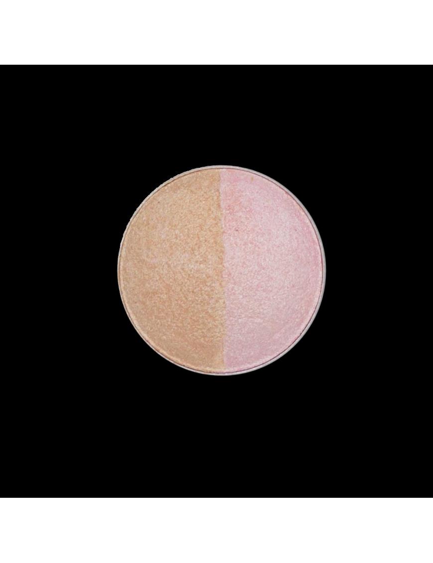 Recharge fard à paupières duo rose nude