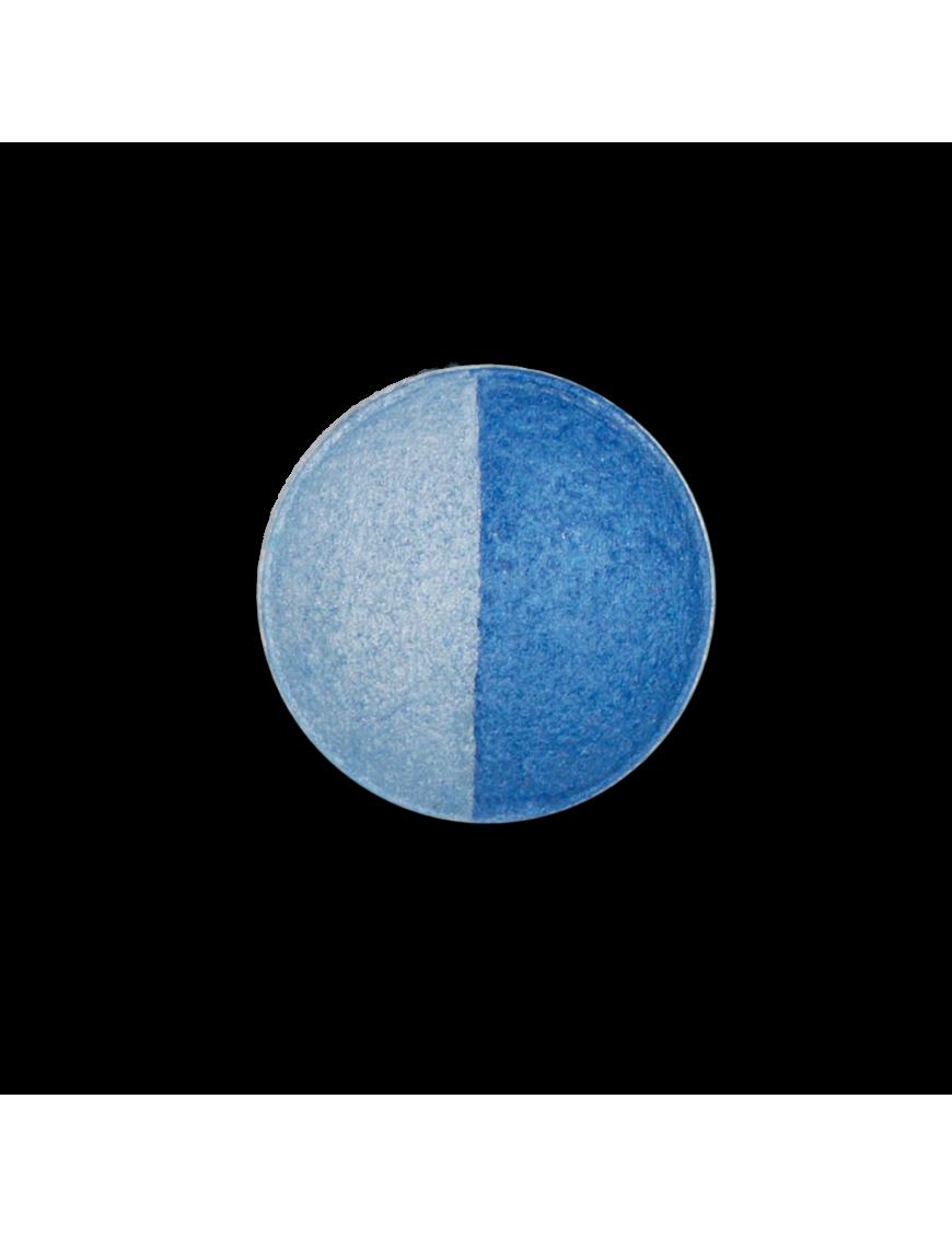 Recharge fard à paupières duo bleu ciel bleu foncé