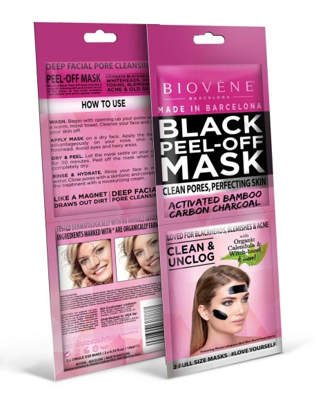 Black mask au charbon double sachet