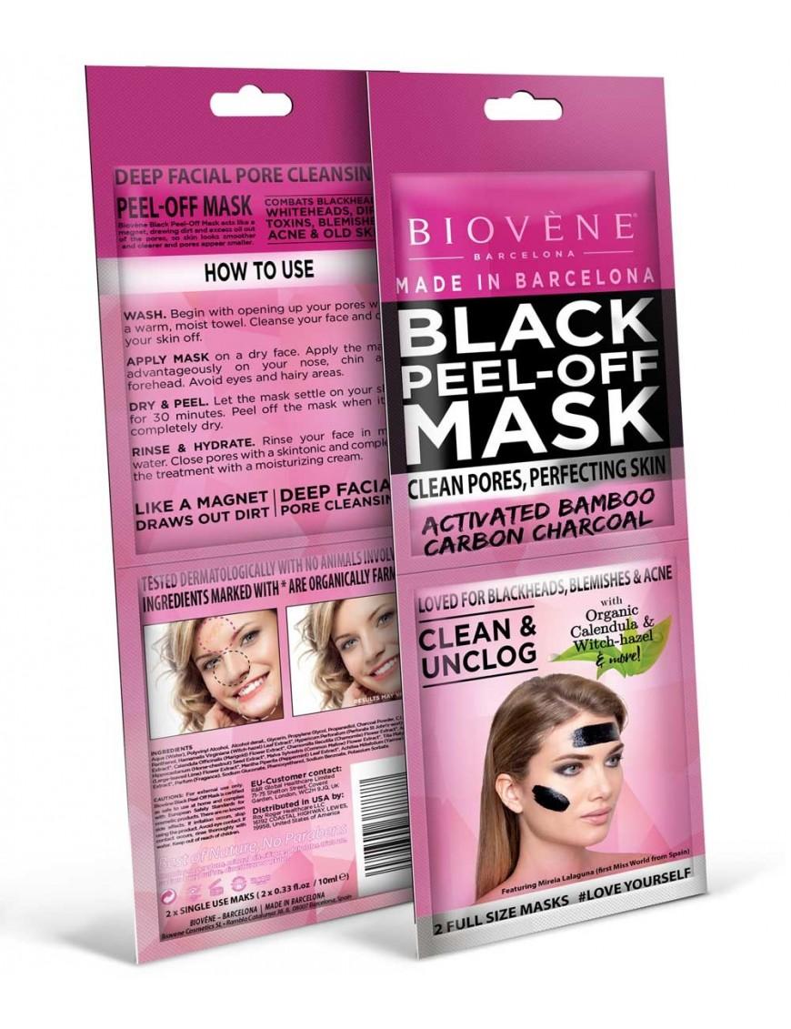 Black mask au charbon double sachet