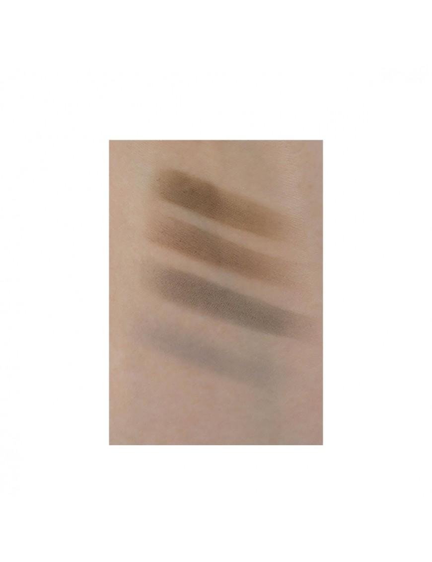 Swatch maquillage fard à sourcils