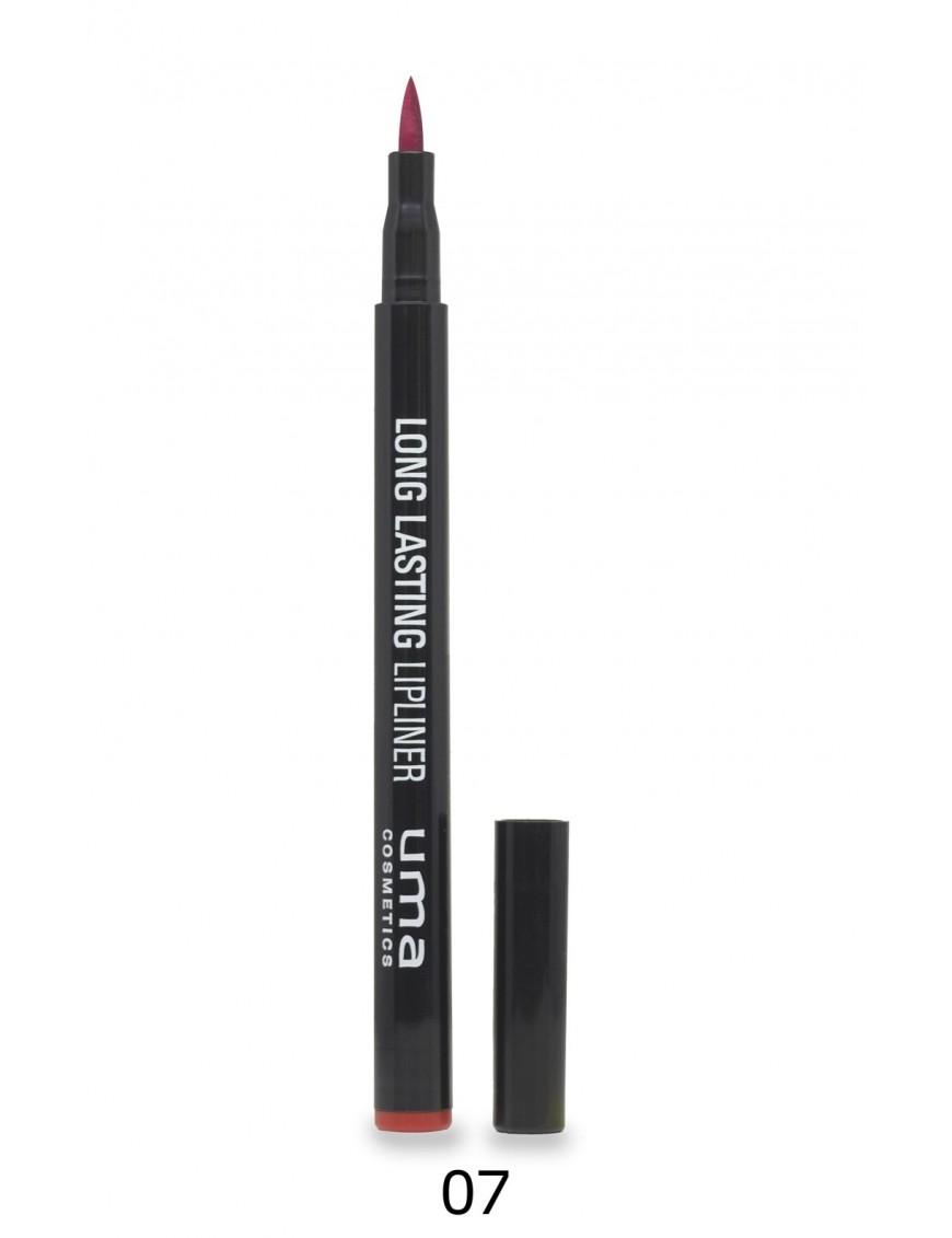 Lip-liner feutre longue tenue 6 couleurs cerise