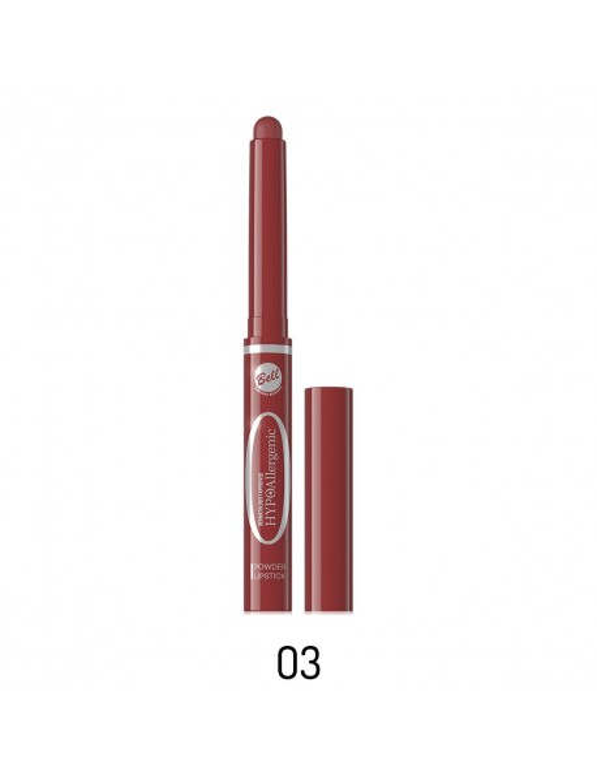 Poudre à lèvres en stick rouge foncé