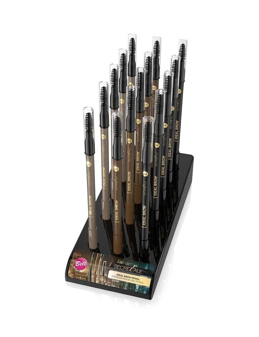 Présentoir crayon sourcils avec brosse