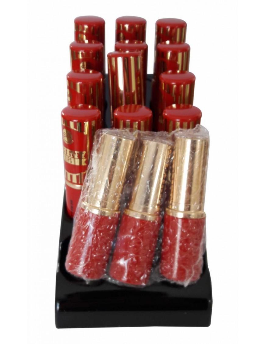 Présentoir rouge à lèvres brillant