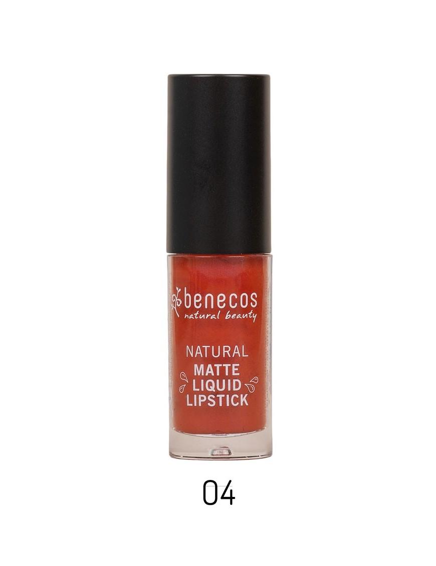 Rouge à lèvres liquide naturel brique