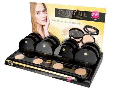Display poudre de maquillage profesionnel